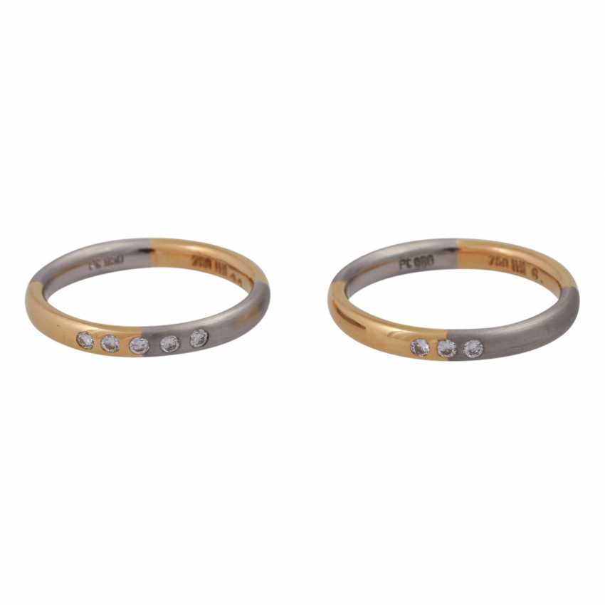 Set of 2 rings with small diamonds - photo 1