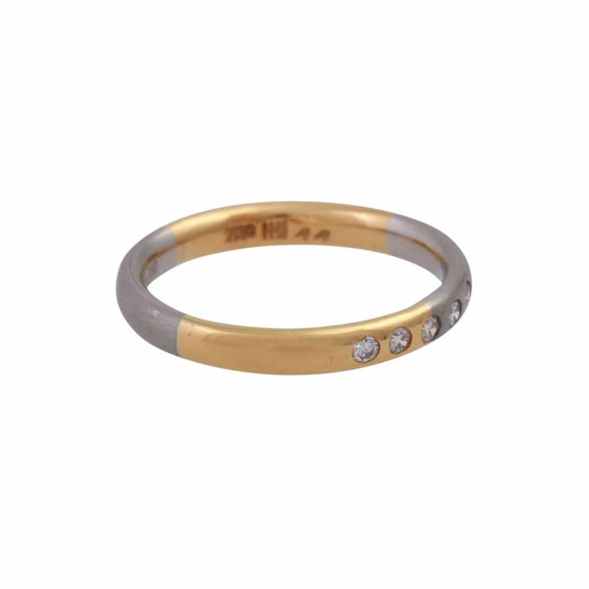 Set of 2 rings with small diamonds - photo 3