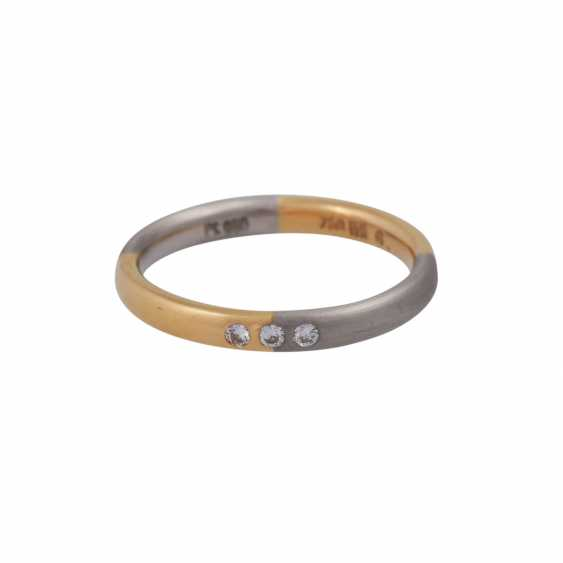 Set of 2 rings with small diamonds - photo 4