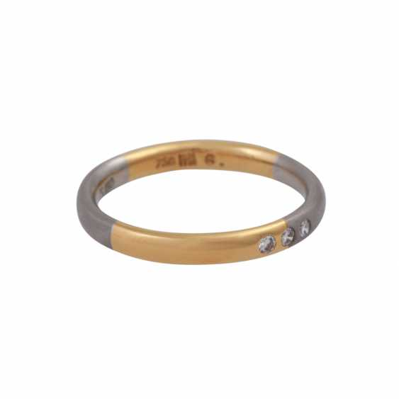 Set of 2 rings with small diamonds - photo 5