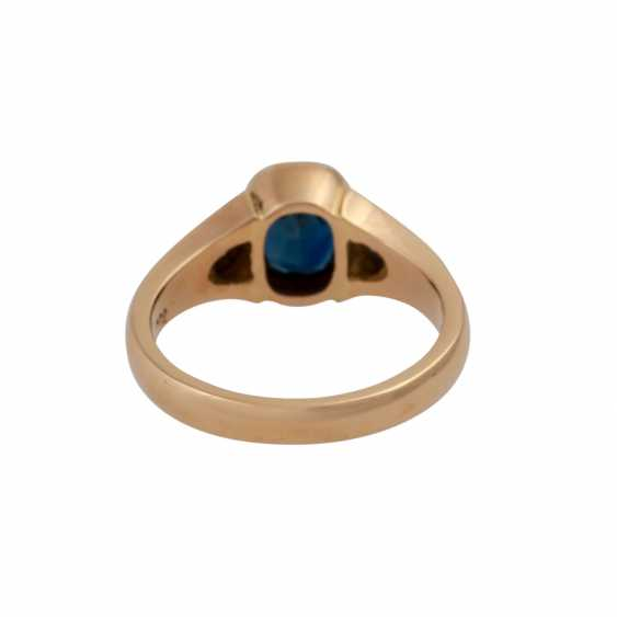 Ring with brilliant and sapphire - photo 4