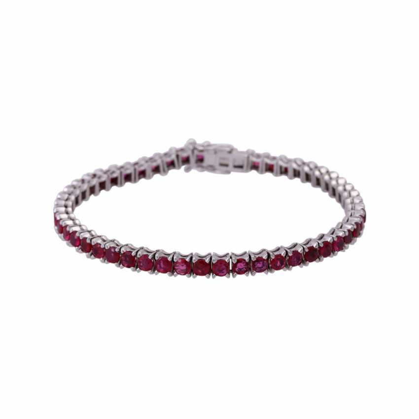 Bracelet 50 rubies together approx 8.5 ct, - photo 1