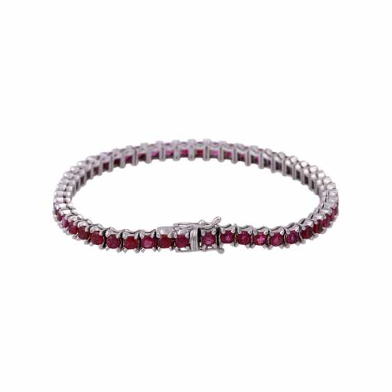 Bracelet 50 rubies together approx 8.5 ct, - photo 2