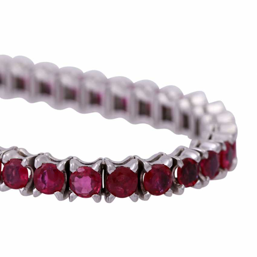 Bracelet 50 rubies together approx 8.5 ct, - photo 5