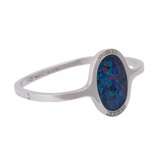 Bangle with oval opal doublette, approx 26x18 mm - photo 2