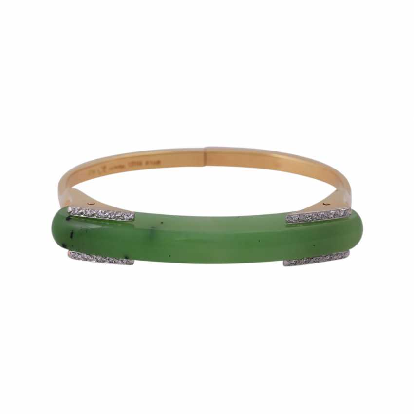 Designer bangle with nephrite jade element - photo 1