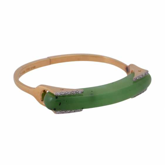 Designer bangle with nephrite jade element - photo 2