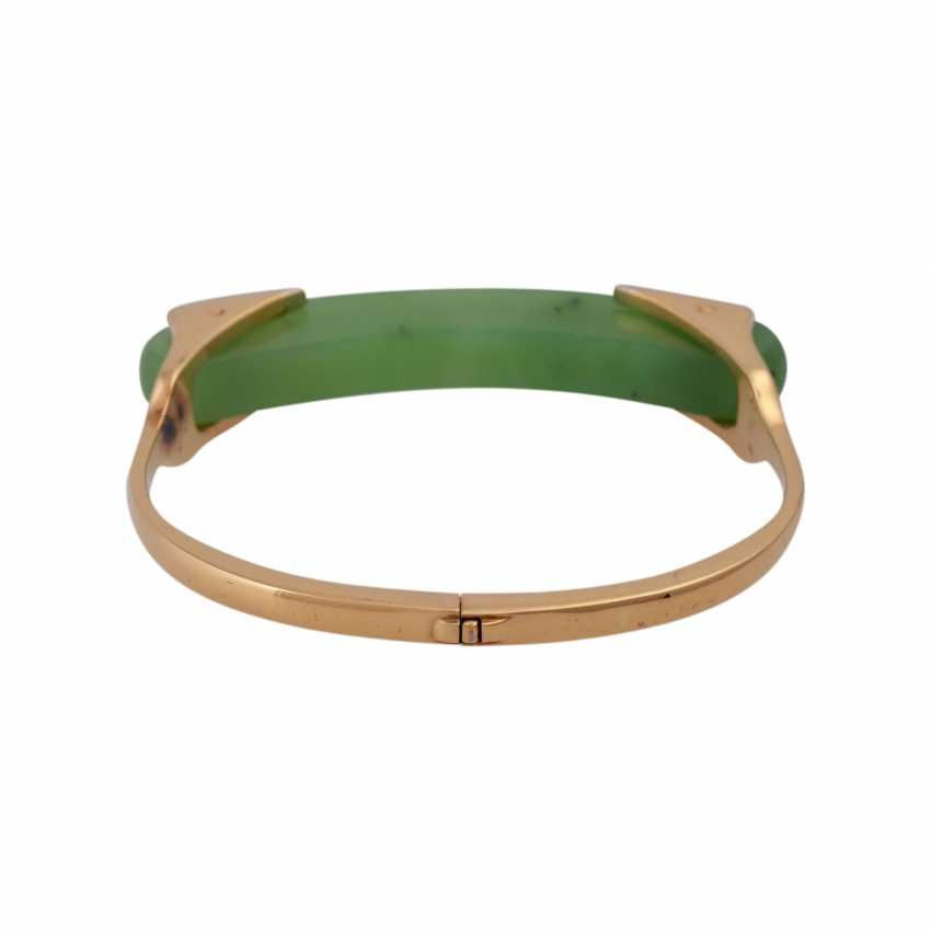 Designer bangle with nephrite jade element - photo 3