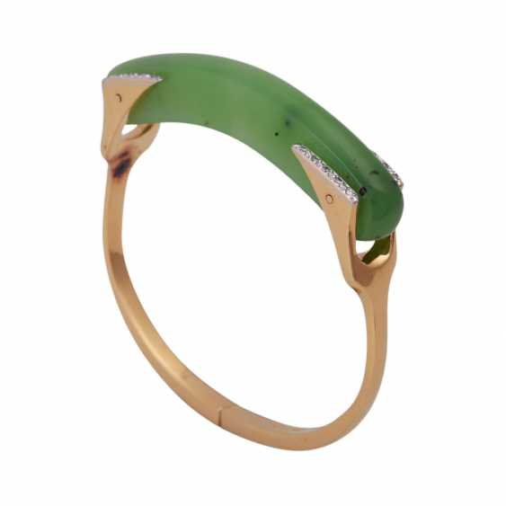 Designer bangle with nephrite jade element - photo 4