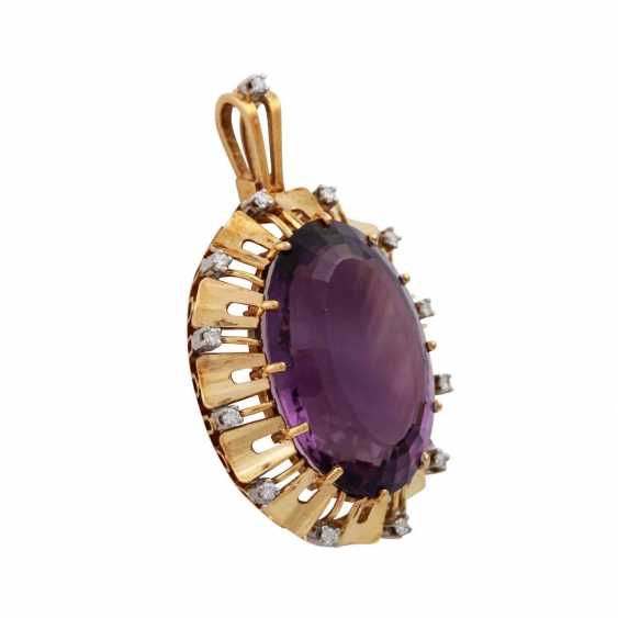Pendant with oval Amethyst, approx. 33 ct - photo 2
