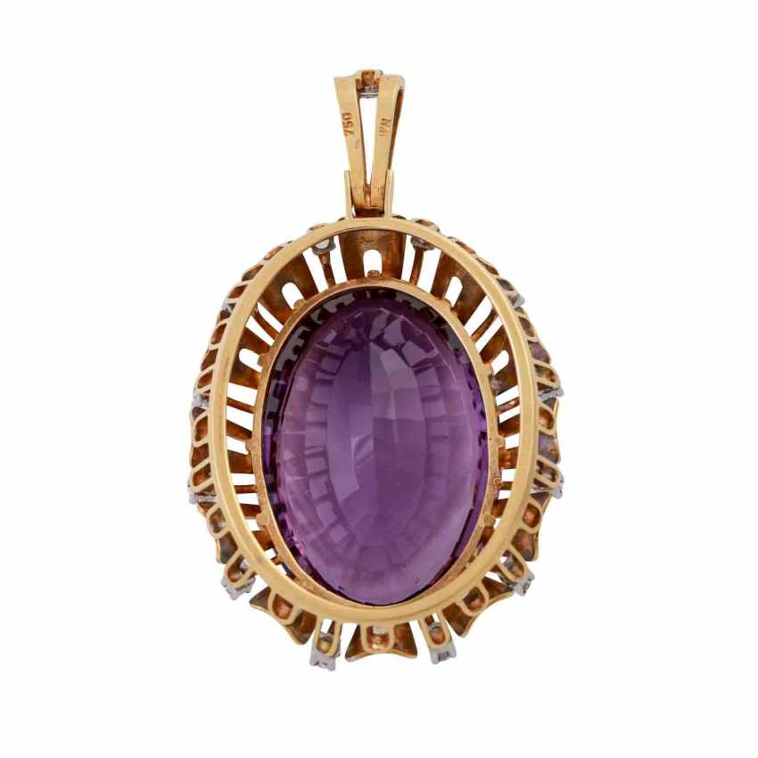 Pendant with oval Amethyst, approx. 33 ct - photo 3