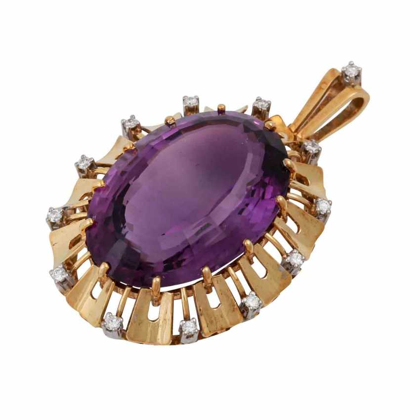 Pendant with oval Amethyst, approx. 33 ct - photo 4