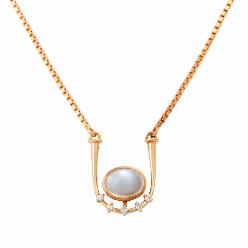 Necklace with oval moonstone - photo 2