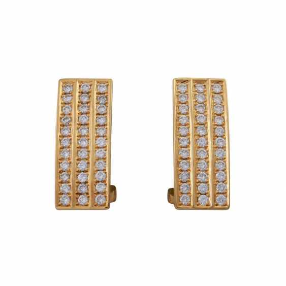 BUNZ DESIGN earrings with brilliant-cut diamonds, together approx 0,66 ct - photo 1