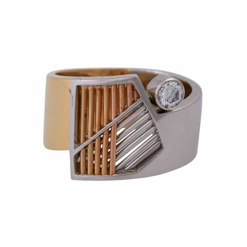 CADEAUX Ring mit Brillant, ca. 0,2 ct, - photo 1