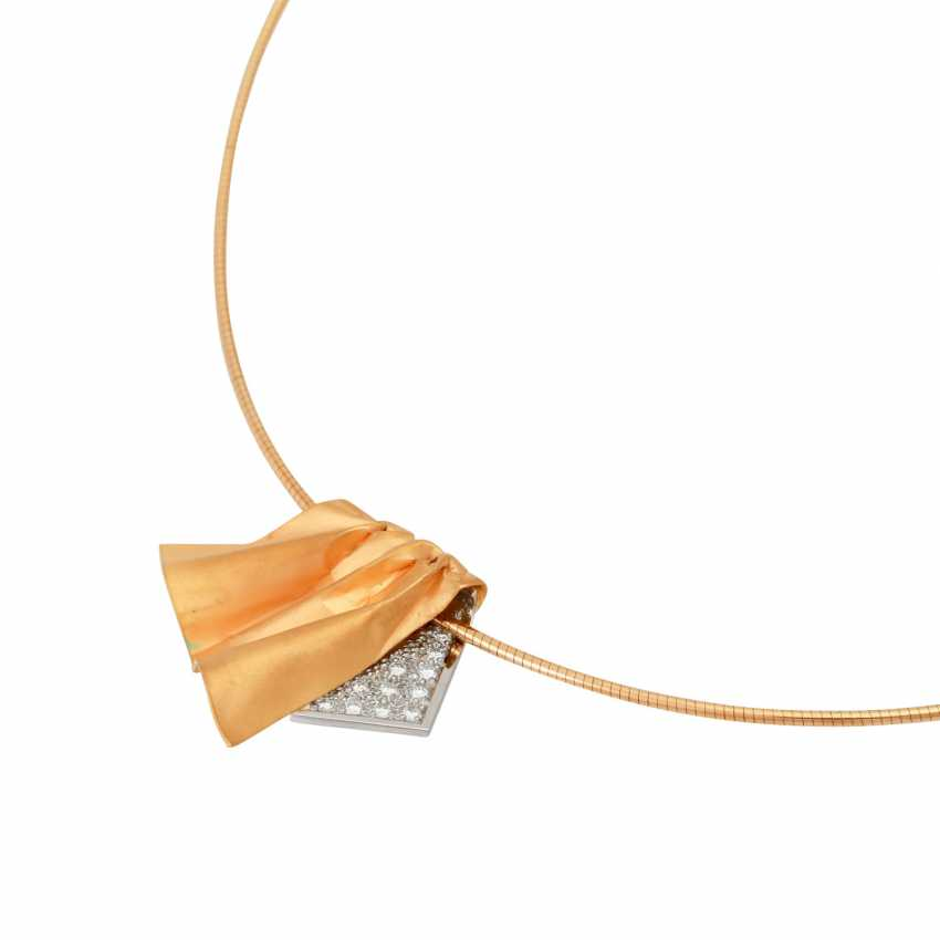 EHINGER-SCHWARZ pendant with brilliant-cut diamonds, together approx 0,33 ct, - photo 4