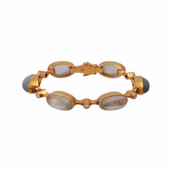 Bracelet with 6 oval moon stones - photo 5
