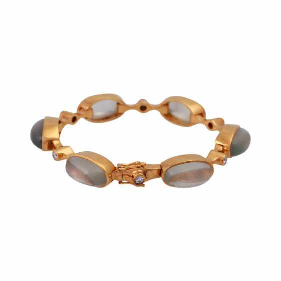 Bracelet with 6 oval moon stones - photo 1