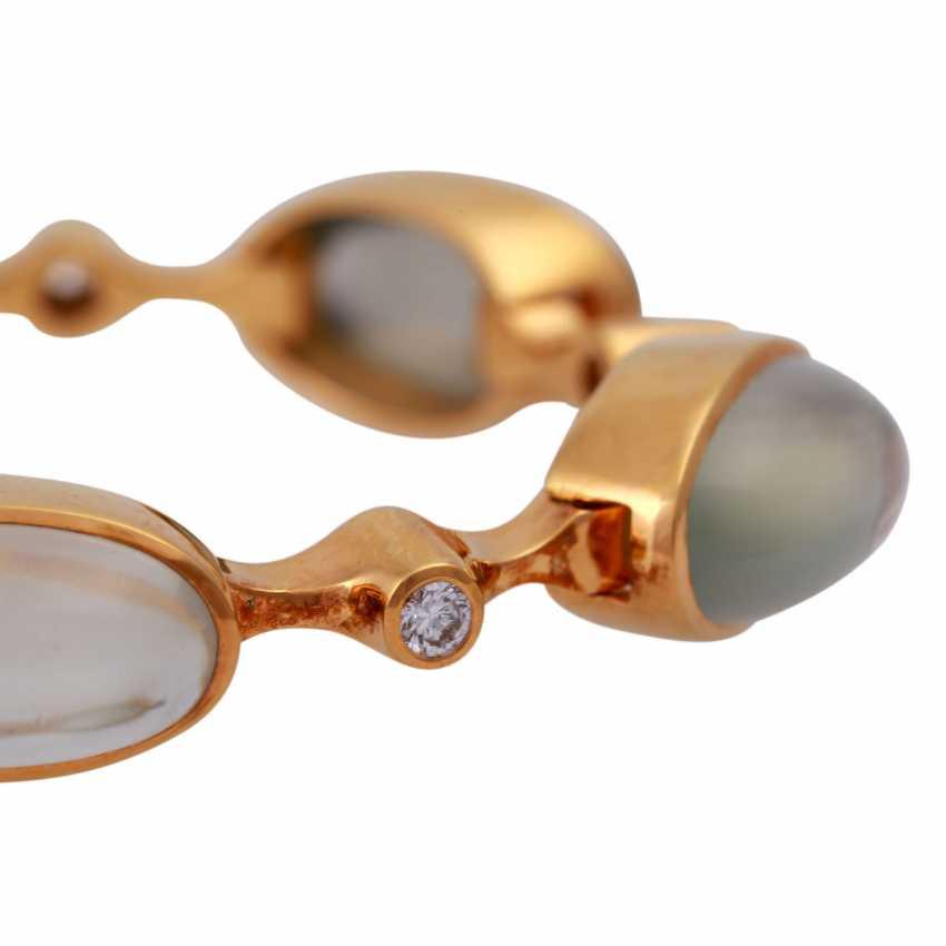 Bracelet with 6 oval moon stones - photo 4