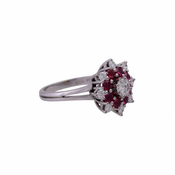 Bague avec Diamants u. Rubis, - photo 2