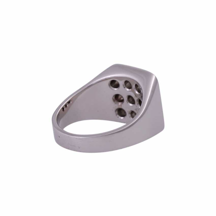 Men's ring with 9 brilliant, together approximately 0.8 ct, - photo 3