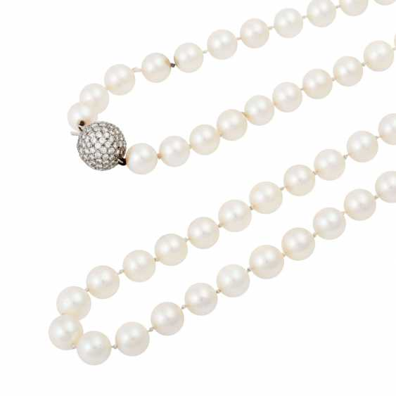 Long necklace of Akoya cultured pearls - photo 4