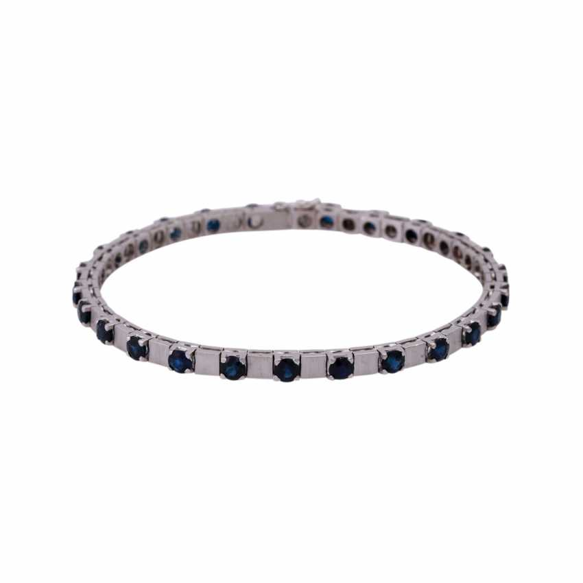 Bracelet with 25 sapphires, together CA. 6,25 ct, - photo 1