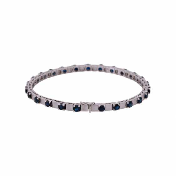 Bracelet with 25 sapphires, together CA. 6,25 ct, - photo 2