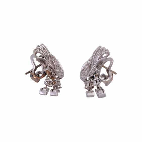 Pair of ear plugs with diamonds, together CA. 2 ct - photo 2