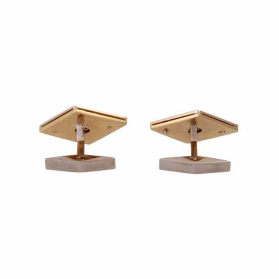 Pair of cufflinks with brilliant-cut diamonds, together CA. 1 ct, - photo 4