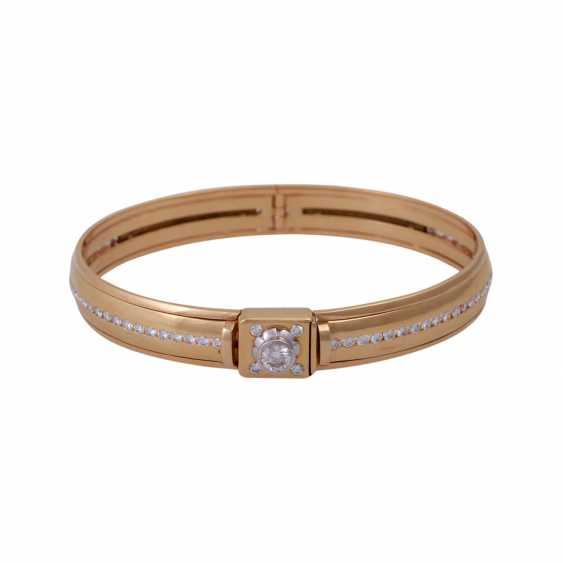 Bangle bracelet, set with diamonds, approx 0.5 ct - photo 1