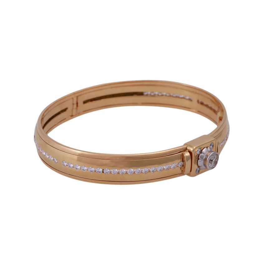 Bangle bracelet, set with diamonds, approx 0.5 ct - photo 2