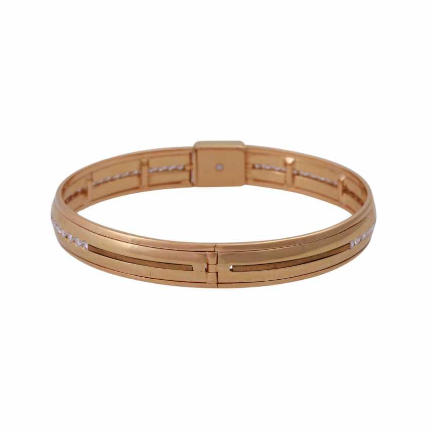 Bangle bracelet, set with diamonds, approx 0.5 ct - photo 3