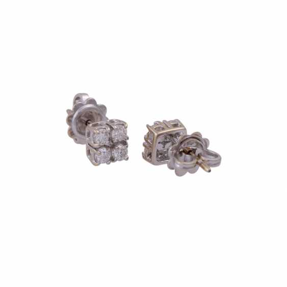 Stud earrings with 4 brilliant-cut diamonds, all together approximately 0.44 ct, - photo 3