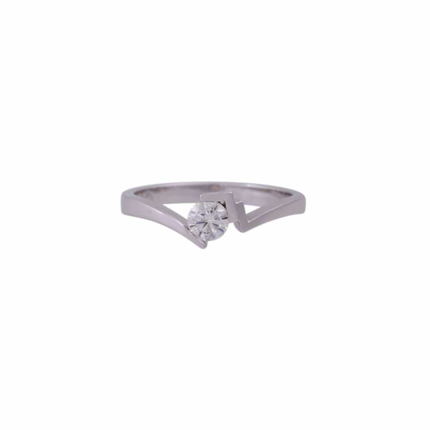 Solitaire ring with brilliant approx 0.24 ct - photo 1
