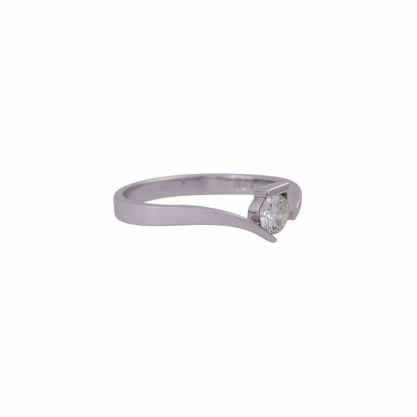 Solitaire ring with brilliant approx 0.24 ct - photo 2