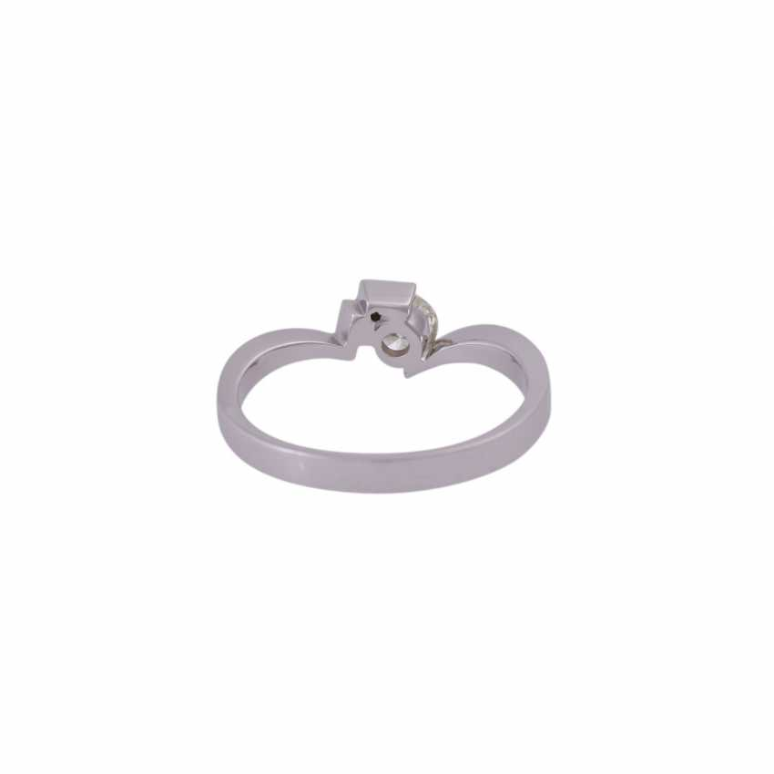 Solitaire ring with brilliant approx 0.24 ct - photo 4