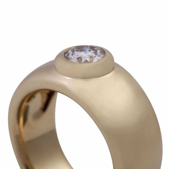 Solitaire ring with brilliant, approximately 0.74 ct - photo 5