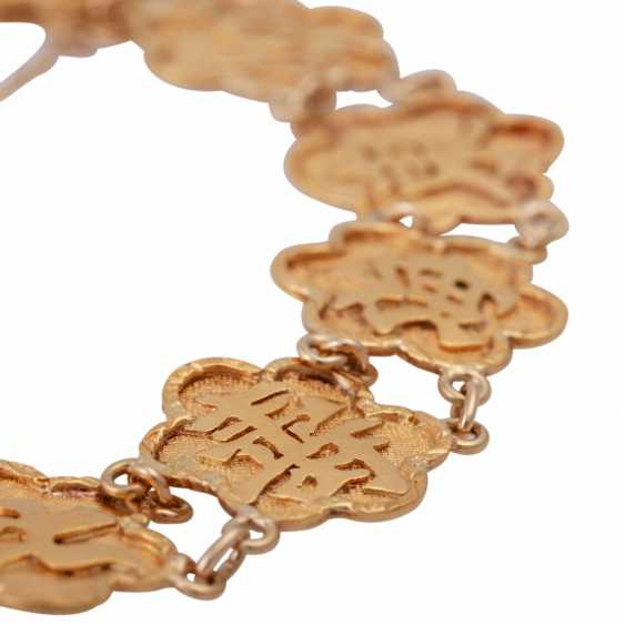 Gold bracelet with Chinese characters, - photo 4