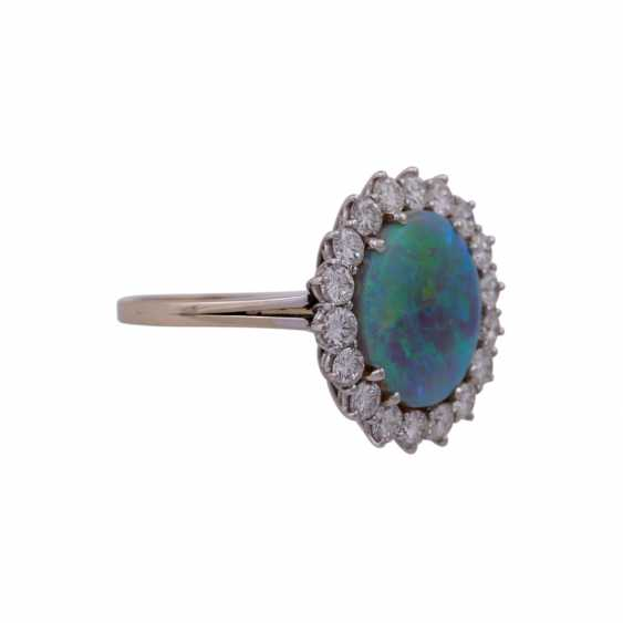 Ring with Opal and diamonds - photo 2