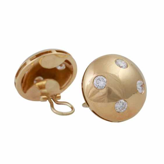 Pair of earrings with brilliants approx 1.8 ct, - photo 3