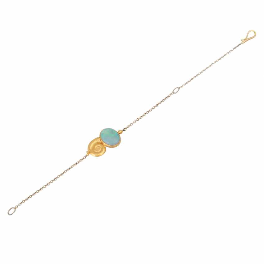 Delicate bracelet with Opal, - photo 3