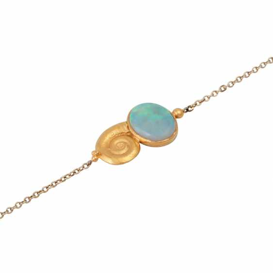 Delicate bracelet with Opal, - photo 4