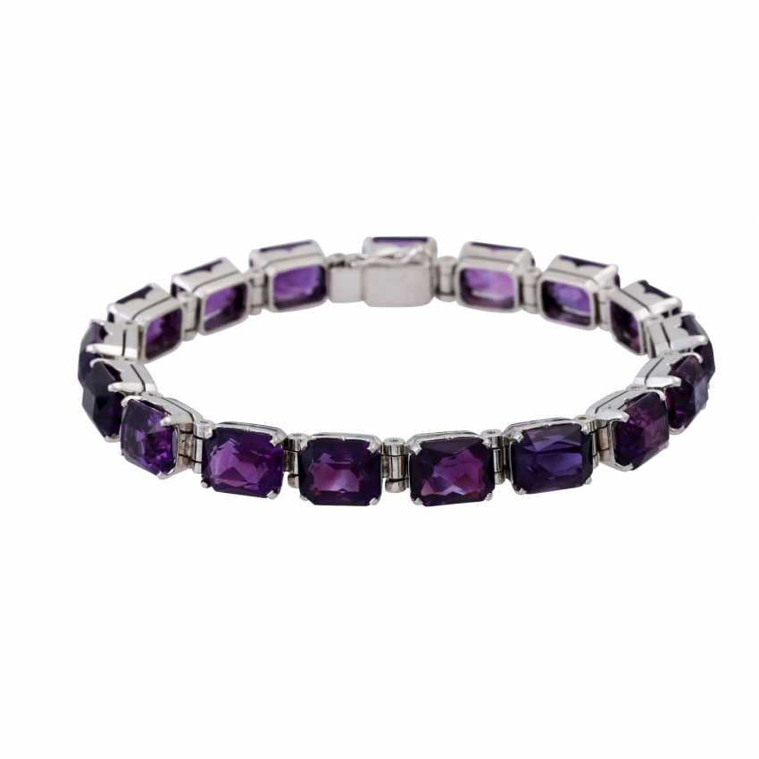 Bracelet with numerous amethysts approx. 42 ct - photo 1