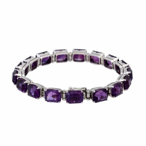 Bracelet with numerous amethysts approx. 42 ct - photo 2