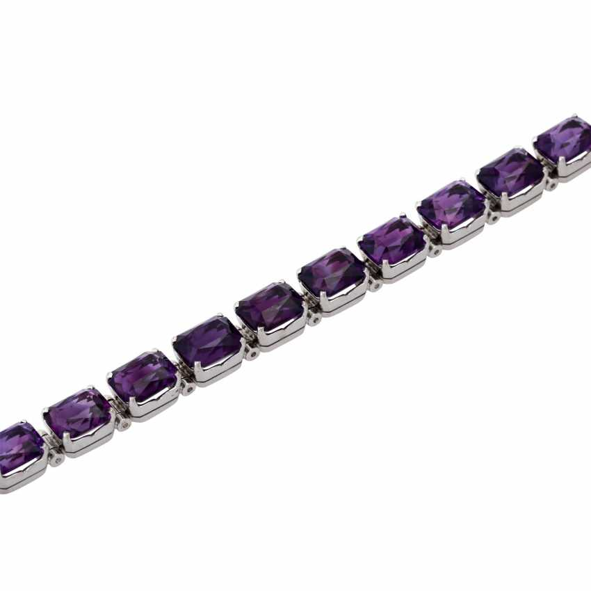 Bracelet with numerous amethysts approx. 42 ct - photo 4