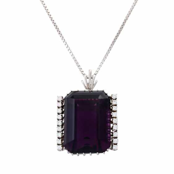 Necklace with pendant, Amethyst approx. 45 ct, - photo 2