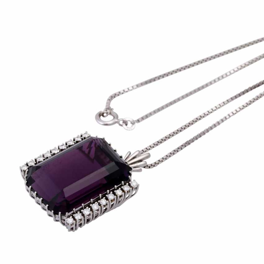 Necklace with pendant, Amethyst approx. 45 ct, - photo 4