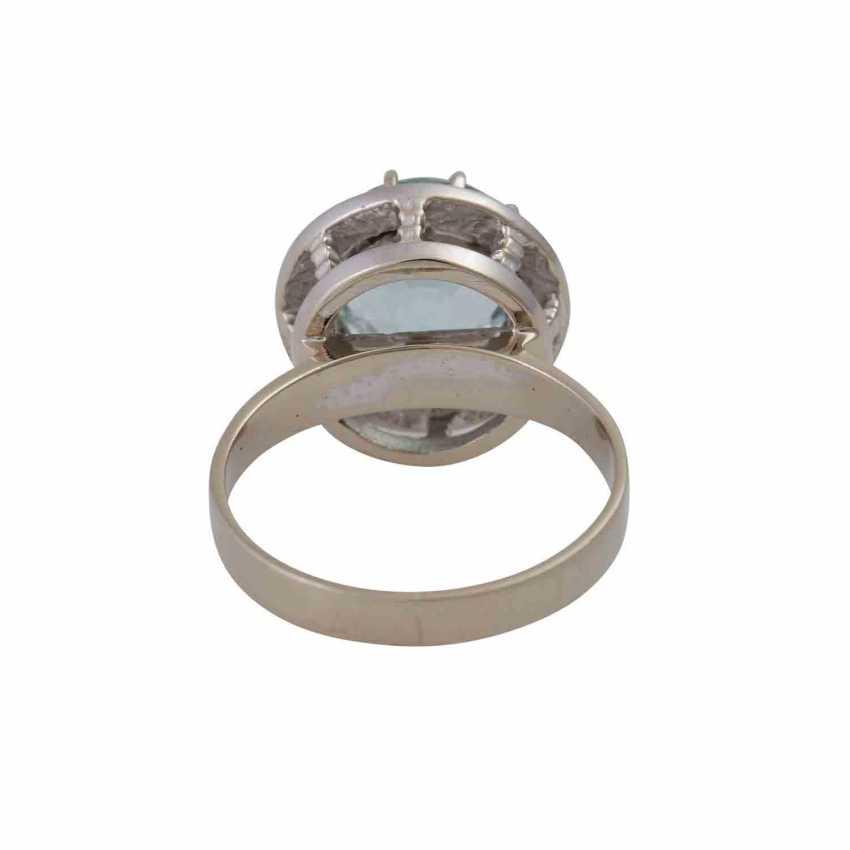 Ring with light blue aquamarine, approximately 2.9 ct, - photo 4