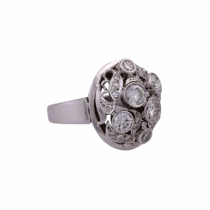 Ring set with diamonds together approx. 2,62 ct - photo 2